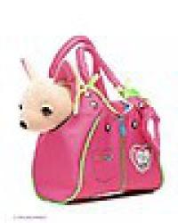 Плюшевая собачка Чихуахуа Zipper с сумкой 20см